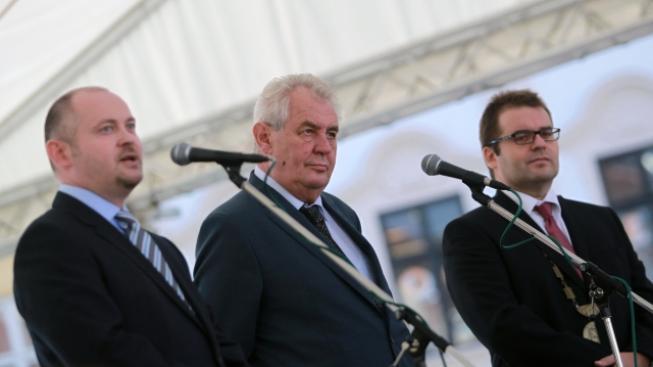 Michal Hašek s Milošem Zemanem