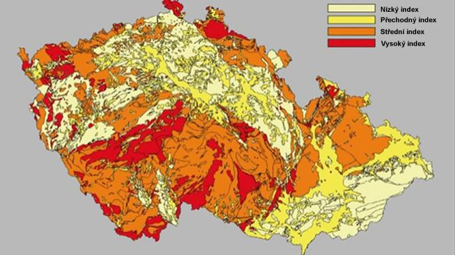 Mapa Mapa Radonu Cr