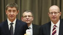 ČSSD a ANO možná v sobotu budou rozdělovat ministerská křesla