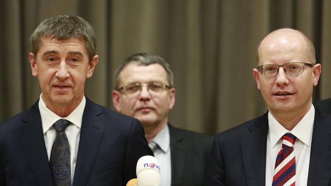 Andrej Babiš, Lubomír Zaorálek a Bohuslav Sobotka