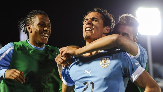 Radost hráčů Uruguaye