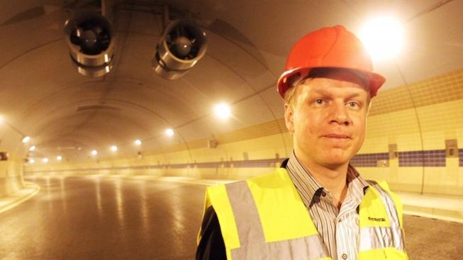 Primátor Hudeček v tunelu Blanka