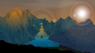 Lumbiní, místo Buddhova narození (ilustrace)a