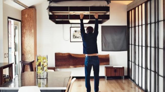 Designov vychyt vka postel p ipevn na ke stropu - Mobile letto richiudibile ...