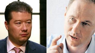 Tomio Okamura, Petr Gazdík (vpravo)