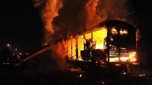 Hořící vagon