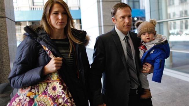Bode Miller s manželkou a synem