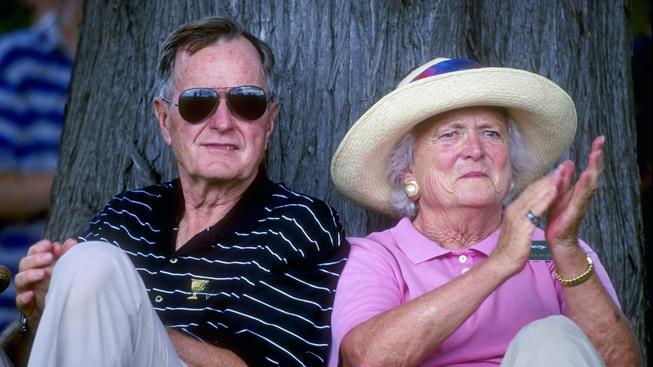 Barbara Bushová s prezidentem Georgem