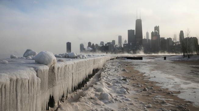 Zmrzlé město v USA