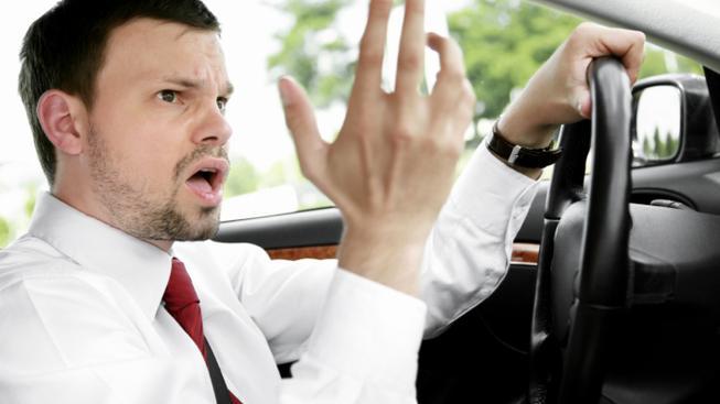 Rozzlobený řidič