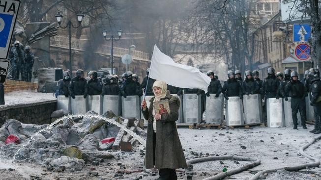 Protivládní demonstrace v Kyjevě