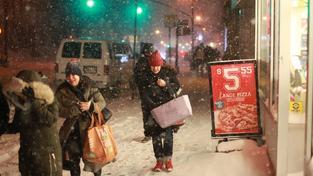 Mrazivé počasí v New Yorku