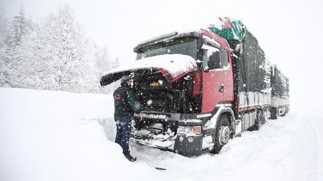 Sněžení v Rakousku