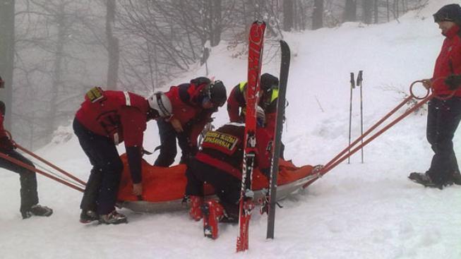 Zraněný lyžař
