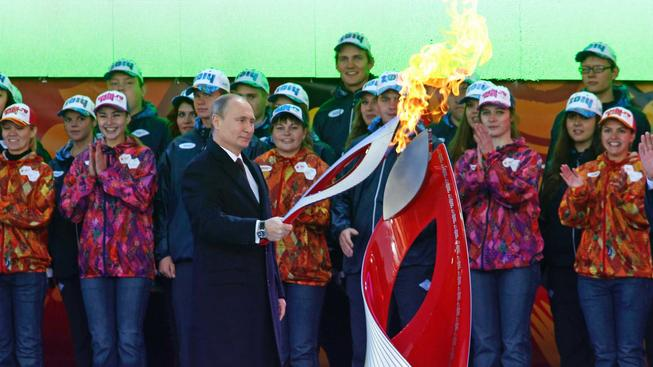 Putin na olympiádě