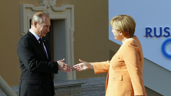 Putin a Merkelová