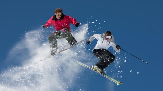 Snowboard vs. lyže