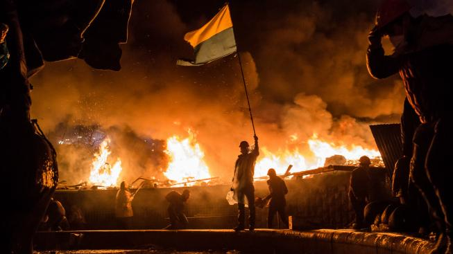 Kyjev v plamenech