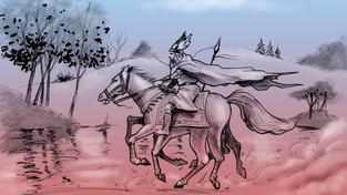 Ódin na koni (ilustrační fotografie)