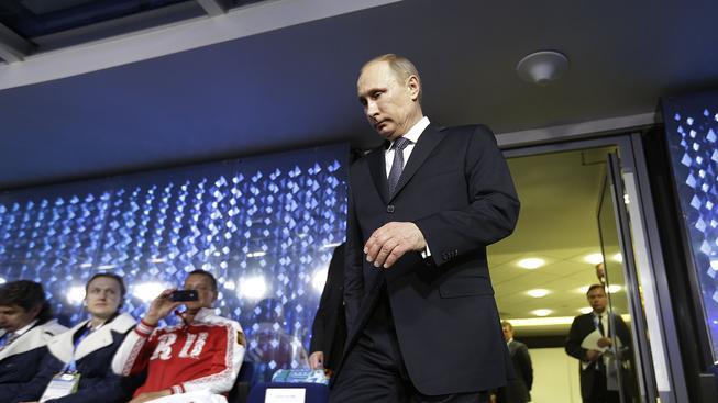 Vladimir Putin během olympijských her