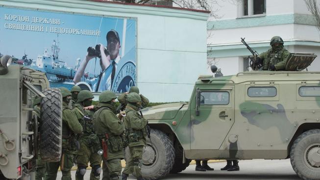 Ukrajinští vojáci v Sevastopolu