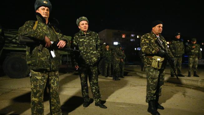 Ukrajinští vojáci na Krymu