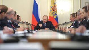 Zasedání Putina s ruskou vládou