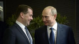 Medveděv s Putinem