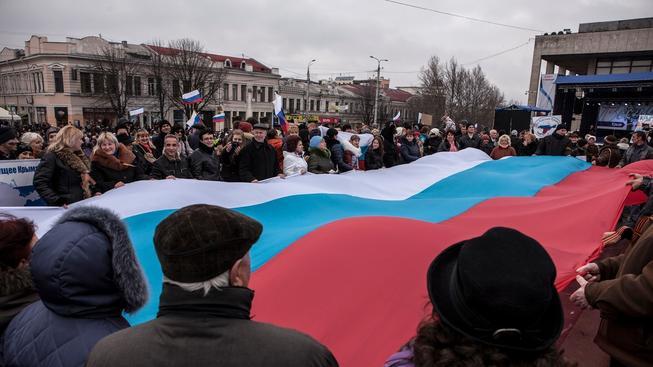 Proruští stoupenci na Krymu