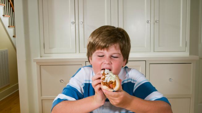 Dětská obezita (ilustrační fotografie)