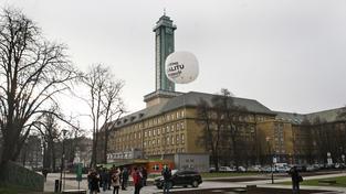 Balón na měření škodlivin ovzduší v Ostravě