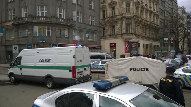 Policie na Václavském náměstí