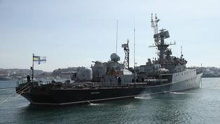 Ukrajinská válečná loď v Sevastopolu