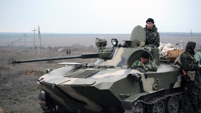Ruští ozbrojenci na Krymu