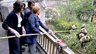 Michelle Obama a pandičky