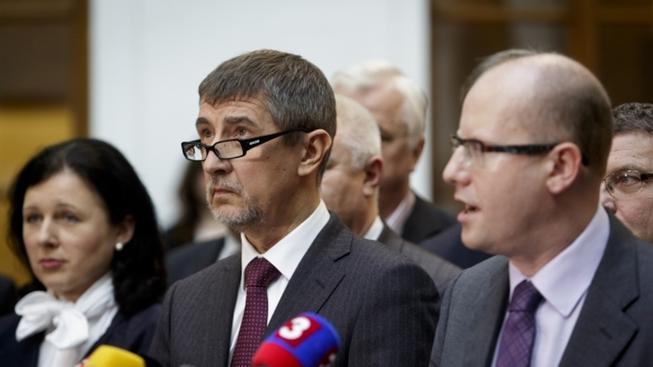 Babiš (vlevo) a Sobotka