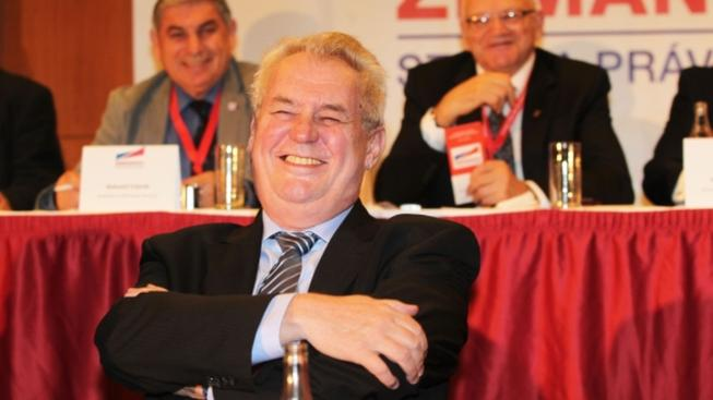 Spokojený Miloš Zeman