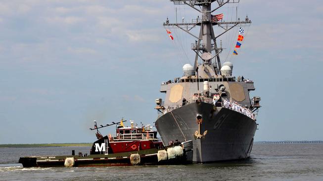 Americký torpédoborec (ilustrační fotografie)