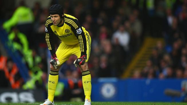 Petr Čech (Chelsea) v utkání proti Stoke, Premier League
