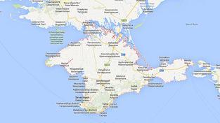 Krym má na Google mapách nově hranici s Ukrajinou