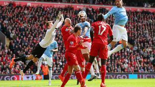 Ze zápasu Liverpool - Manchester City