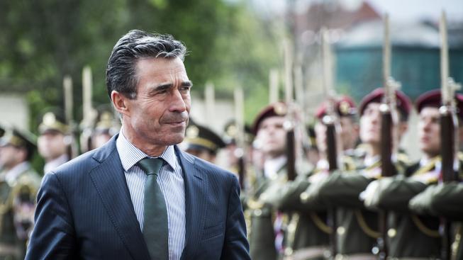 Generální tajemník NATO Anders Fogh Rasmussen během návštěvy Prahy