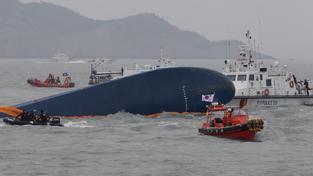 Záchranné práce u jihokorejského trajektu