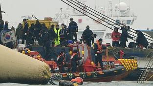 Potopený trajekt Sewol