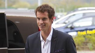 Andy Murray při návštěvě rodného Skotska