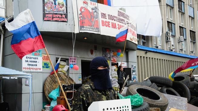 Proruští separatisté v Luhansku (Východ Ukrajiny)
