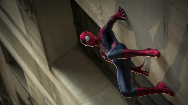 Filmový 'pavoučí muž' na záběru z Amazing Spider-Man 2