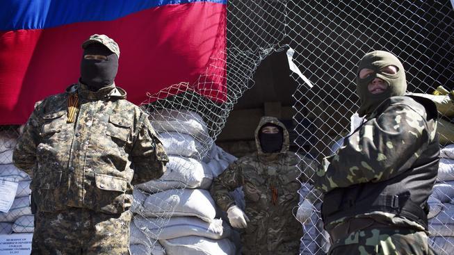 Proruští separatisté ve Slavjansku