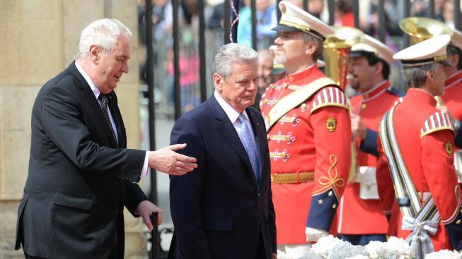Zeman a Gauck
