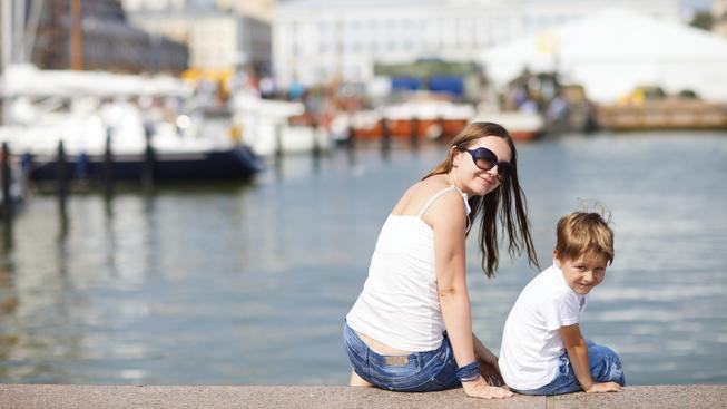 Matka s dítětem ve Finsku (ilustrační fotografie)